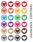 vector illustration of heart... | Shutterstock .eps vector #210970642