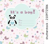 baby boy arrival card. baby... | Shutterstock .eps vector #210972586