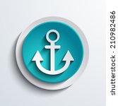 vector modern blue anchor...