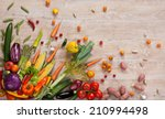 healthy food background  ... | Shutterstock . vector #210994498