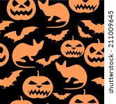 halloween seamless pattern. | Shutterstock .eps vector #211009645
