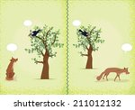 two scenes from the fable of... | Shutterstock .eps vector #211012132