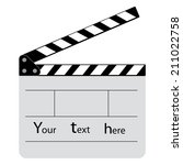 whiteboard movie film slate... | Shutterstock . vector #211022758