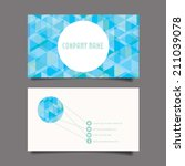 business card set. vector... | Shutterstock .eps vector #211039078