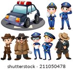 Illustration Of Police And...