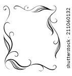 beautiful vector frame | Shutterstock .eps vector #211060132