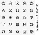 sacred geometry icons | Shutterstock .eps vector #211060915