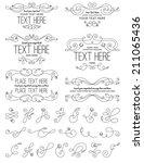 vintage calligraphy flower... | Shutterstock .eps vector #211065436