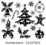 collect christmas element with... | Shutterstock .eps vector #21107821