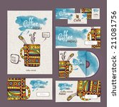 coffee concept design.... | Shutterstock .eps vector #211081756