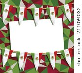 mexican party card decoration... | Shutterstock .eps vector #211094032