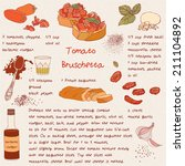 food illustrations. food... | Shutterstock .eps vector #211104892