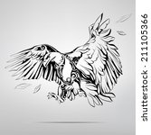 eagle in an ornament. vector... | Shutterstock .eps vector #211105366