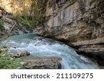 waterfall in canyon | Shutterstock . vector #211109275