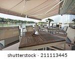 interior of a summer terrace of ...   Shutterstock . vector #211113445