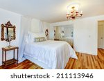 refreshing white bedroom with... | Shutterstock . vector #211113946