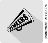 flat design of  bullhorn symbol  | Shutterstock .eps vector #211114678