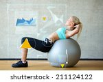 fitness  sport  training ... | Shutterstock . vector #211124122