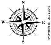 black compass rose  isolated on ... | Shutterstock .eps vector #21112648