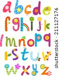 cute alphabet | Shutterstock .eps vector #211127176
