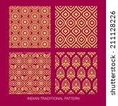 Indian pattern collection. come with layers. - stock vector