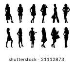 girl silhouettes | Shutterstock .eps vector #21112873