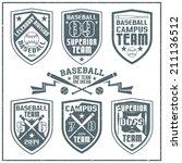 college baseball team emblem... | Shutterstock .eps vector #211136512