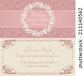 antique baroque wedding... | Shutterstock .eps vector #211140562