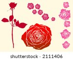 vector roses of different design | Shutterstock .eps vector #2111406