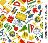 school seamless pattern   Shutterstock . vector #211158982