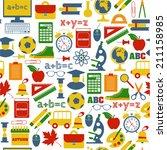 school seamless pattern   Shutterstock . vector #211158985