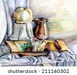 Watercolor On Paper   Elegant...