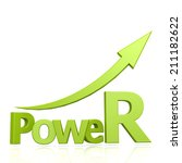 power word with arrow | Shutterstock . vector #211182622