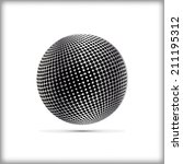 halftone sphere vector logo... | Shutterstock .eps vector #211195312