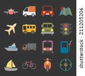 transport icon | Shutterstock .eps vector #211205206