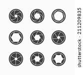 camera shutter icons. vector. | Shutterstock .eps vector #211209835