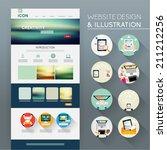 website template vector design   Shutterstock .eps vector #211212256