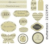 set of elegant scrapbooking... | Shutterstock .eps vector #211219192
