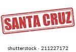 Santa Cruz grunge rubber stamp on white background, vector illustration