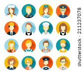 set of colorful profession... | Shutterstock .eps vector #211237078