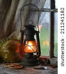 Old Fashioned Kerosene Lantern...