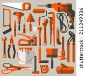 vector construction and... | Shutterstock .eps vector #211249336