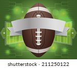 an american football and banner ... | Shutterstock .eps vector #211250122