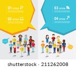 different social groups of... | Shutterstock .eps vector #211262008
