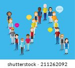different social groups of... | Shutterstock .eps vector #211262092