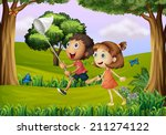 illustration of the two kids... | Shutterstock . vector #211274122