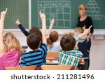 intelligent group of young...   Shutterstock . vector #211281496