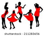models girls color set | Shutterstock .eps vector #211283656