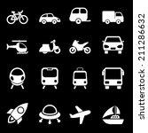 white transport icons set    Shutterstock . vector #211286632