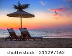 vivid sunrise on a beautiful... | Shutterstock . vector #211297162